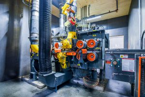 L'usine Katerra a fait l'acquisition de trois raboteuses Gilbert Série-S où les pièces de bois sont rabotées aux dimensions requises.